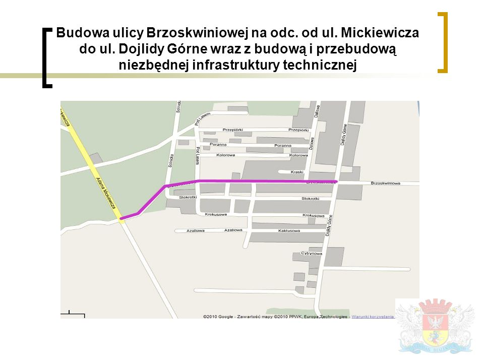 Budowa ulicy Brzoskwiniowej na odc. od ul. Mickiewicza do ul.