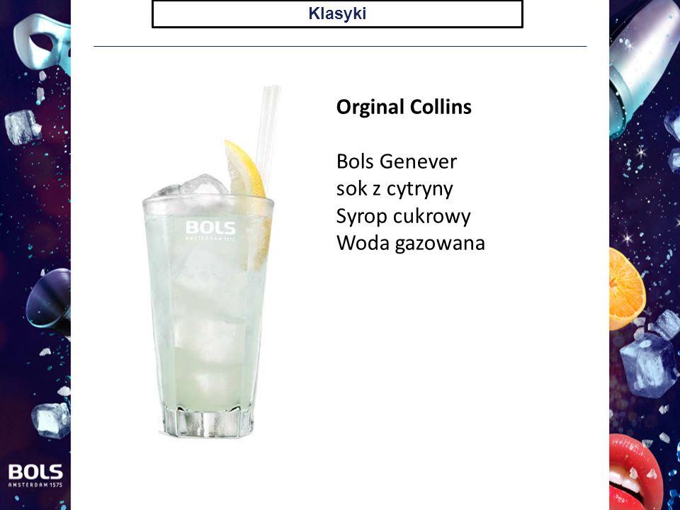 Klasyki Orginal Collins Bols Genever sok z cytryny Syrop cukrowy Woda gazowana
