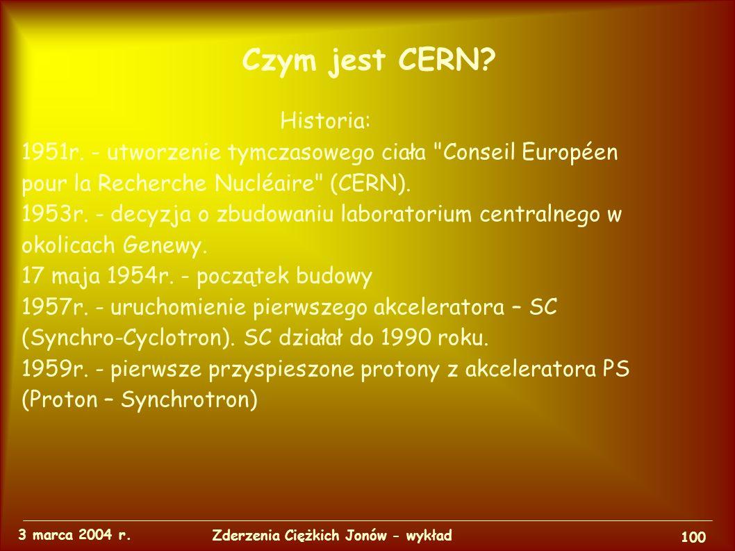 Czym jest CERN. 3 marca 2004 r.
