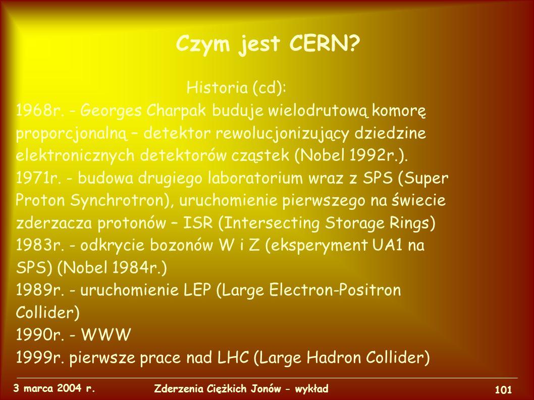 Czym jest CERN. 3 marca 2004 r. 100 Zderzenia Ciężkich Jonów - wykład Historia: 1951r.