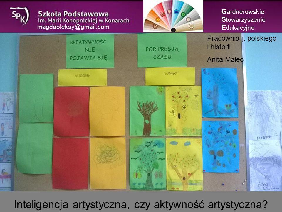 magdaoleksy@gmail.com Inteligencja artystyczna, czy aktywność artystyczna.