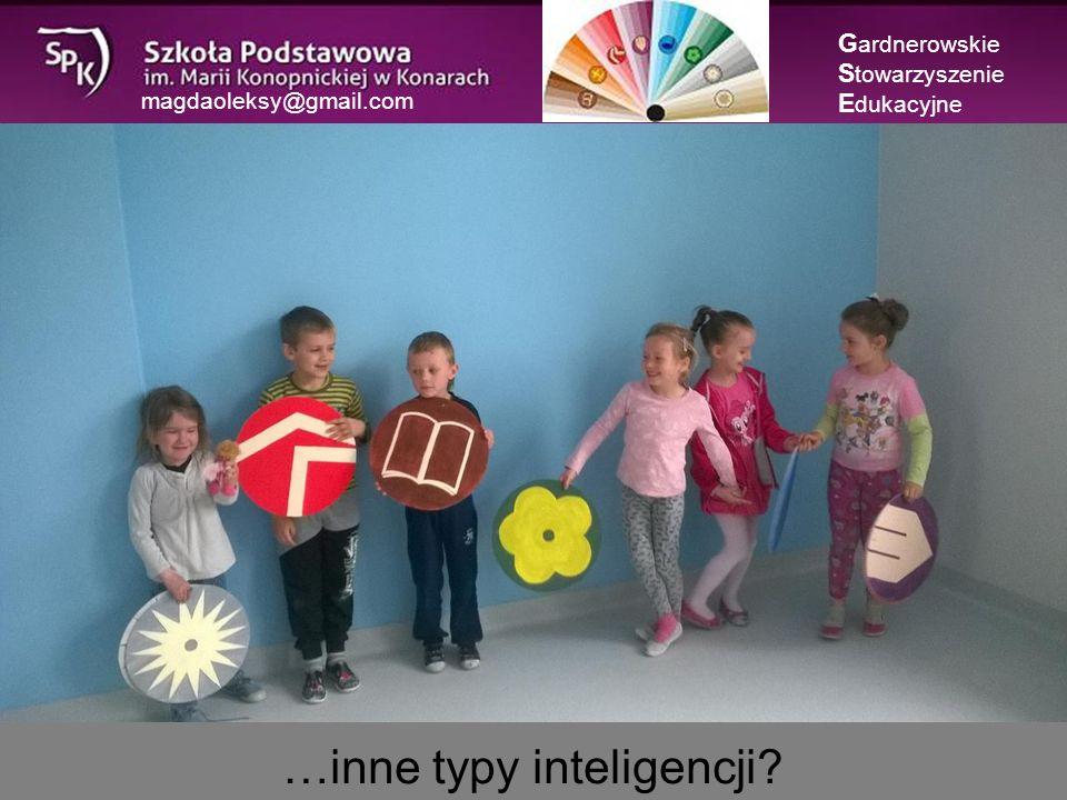 magdaoleksy@gmail.com …inne typy inteligencji G ardnerowskie S towarzyszenie E dukacyjne