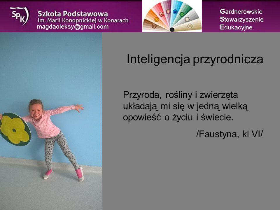 magdaoleksy@gmail.com Inteligencja językowa G ardnerowskie S towarzyszenie E dukacyjne Dzięki inteligencji językowej można nieść pokój- porozumieć się z kimś i zakończyć konflikt.