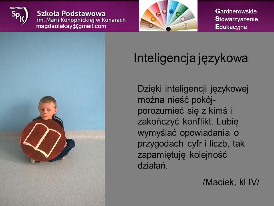 magdaoleksy@gmail.com G ardnerowskie S towarzyszenie E dukacyjne Czego Jaś się nie nauczy…