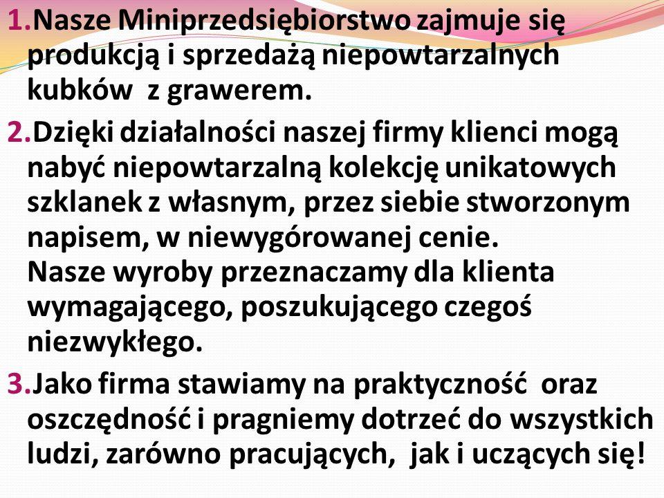 Opiekun Miniprzedsiębiorstwa : mgr Mariola Rychlik