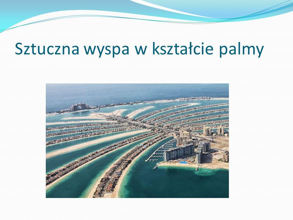 Sztuczna wyspa w kształcie palmy