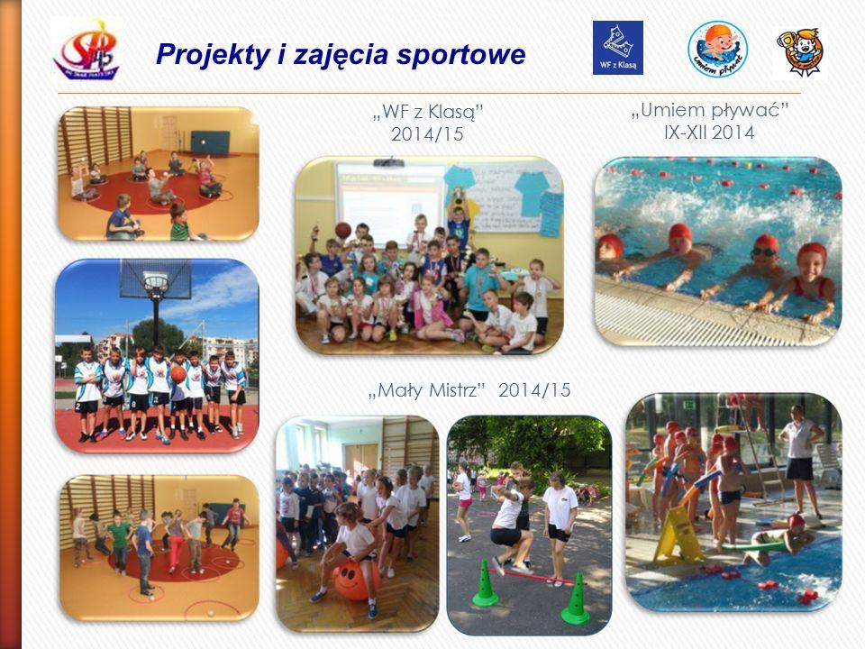 """Projekty i zajęcia sportowe """"Umiem pływać IX-XII 2014 """"WF z Klasą 2014/15 """"Mały Mistrz 2014/15"""