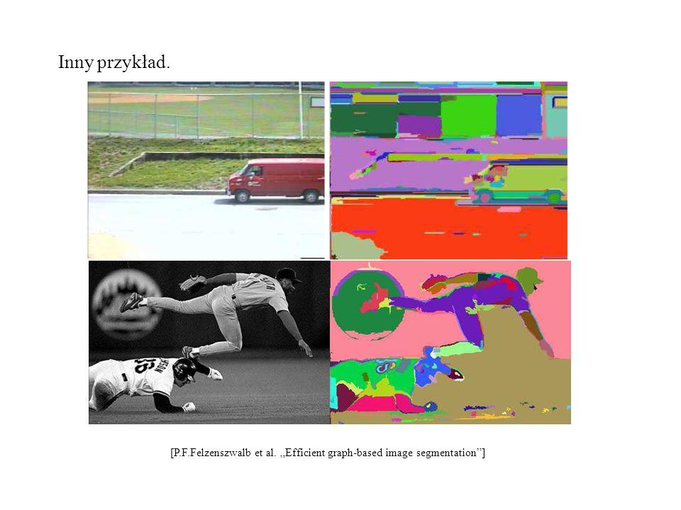 "Inny przykład. [P.F.Felzenszwalb et al. ""Efficient graph-based image segmentation ]"