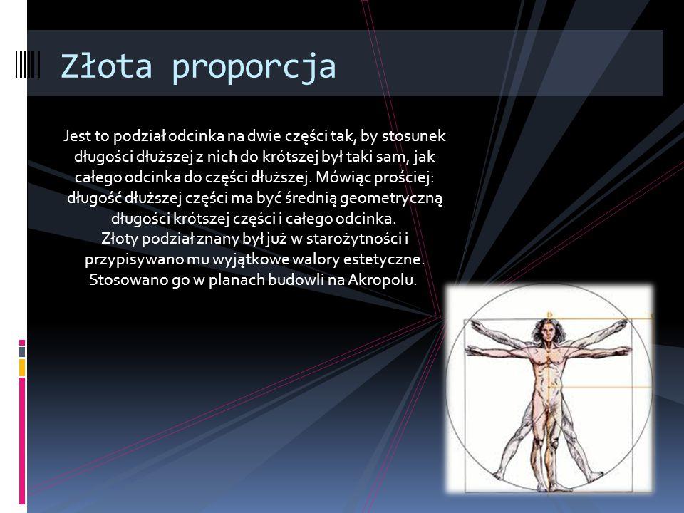 Podsumowanie : Przyjęło się, że człowiek witruwiański jest wzorem proporcji idealnego człowieka.