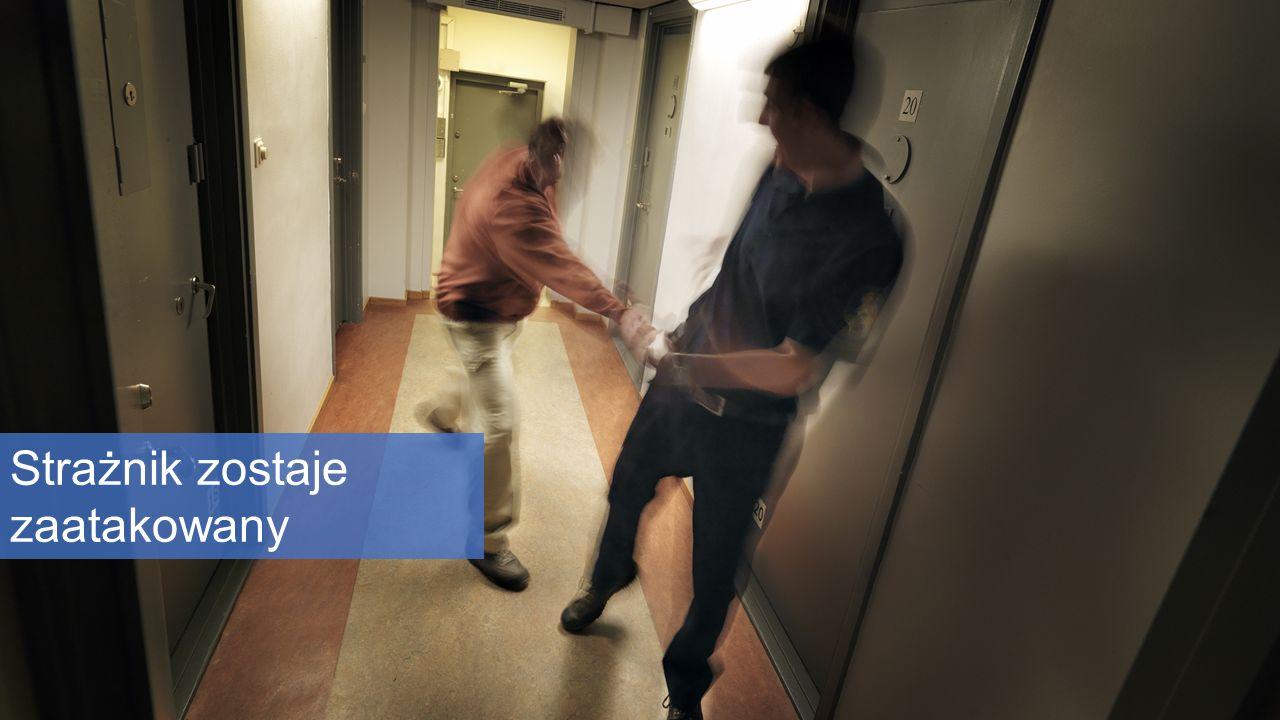 Strażnik zostaje zaatakowany