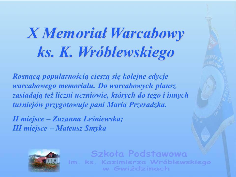 X Memoriał Warcabowy ks. K.