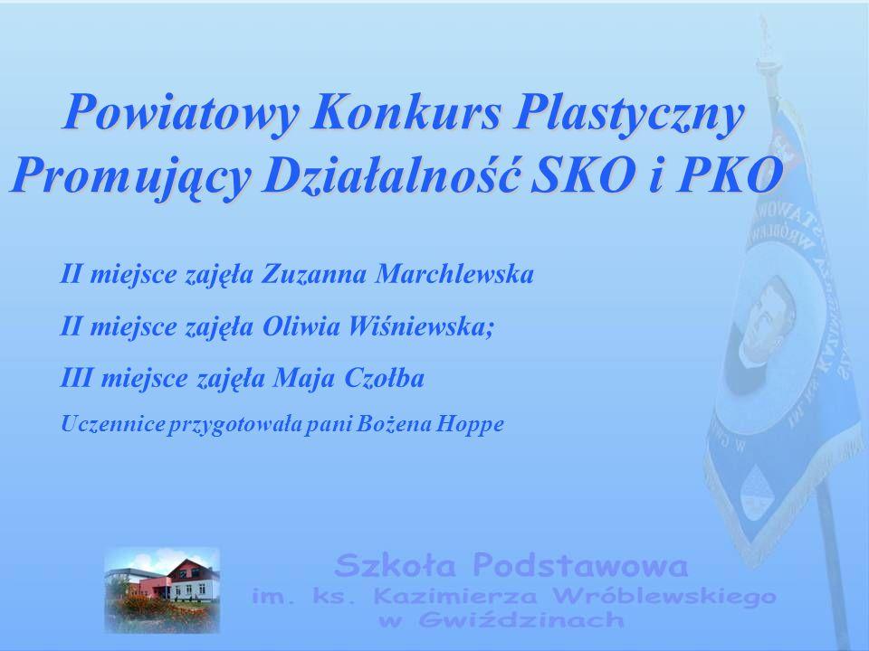 Powiatowy Konkurs Matematyczny dla klas I - III Powiatowy Konkurs Matematyczny dla klas I - III III miejsce zajął Emil Bednarczyk.
