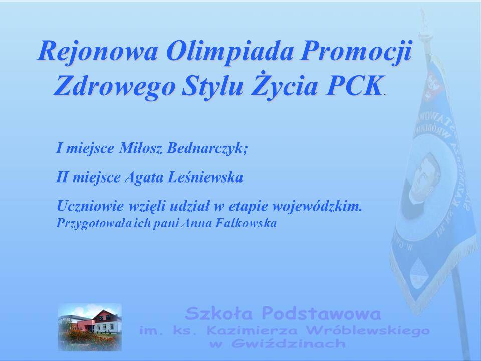 Powiatowy Konkurs Wiedzy o Unii Europejskiej Powiatowy Konkurs Wiedzy o Unii Europejskiej III miejsce zajęła drużyna w składzie: Agata Leśniewska, Paulina Kądzielewska i Milosz Bednarczyk.