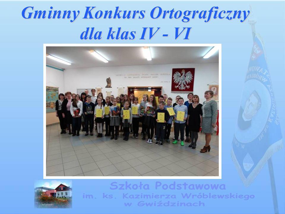 Gminny Konkurs Ortograficzny dla klas IV - VI