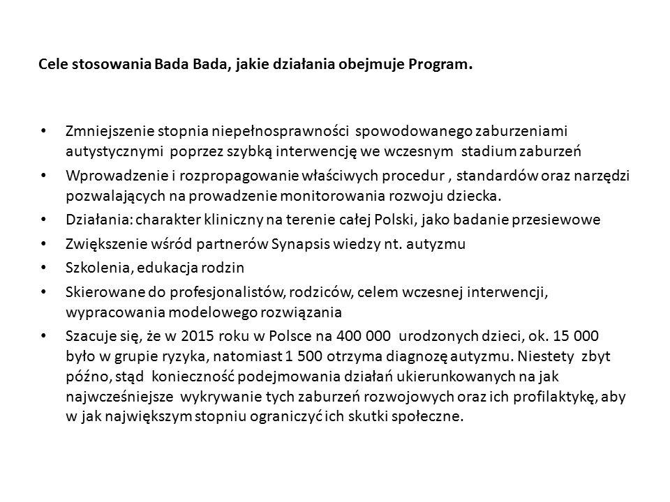 Cele stosowania Bada Bada, jakie działania obejmuje Program.