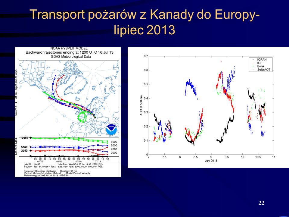 Transport pożarów z Kanady do Europy- lipiec 2013 22