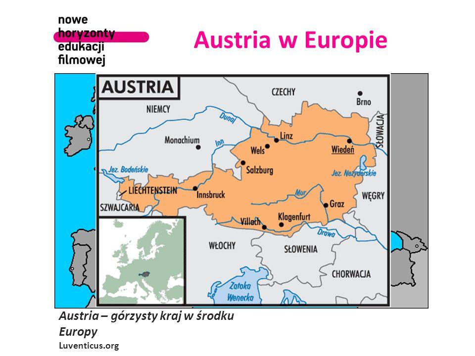 Austria w Europie Austria – górzysty kraj w środku Europy Luventicus.org