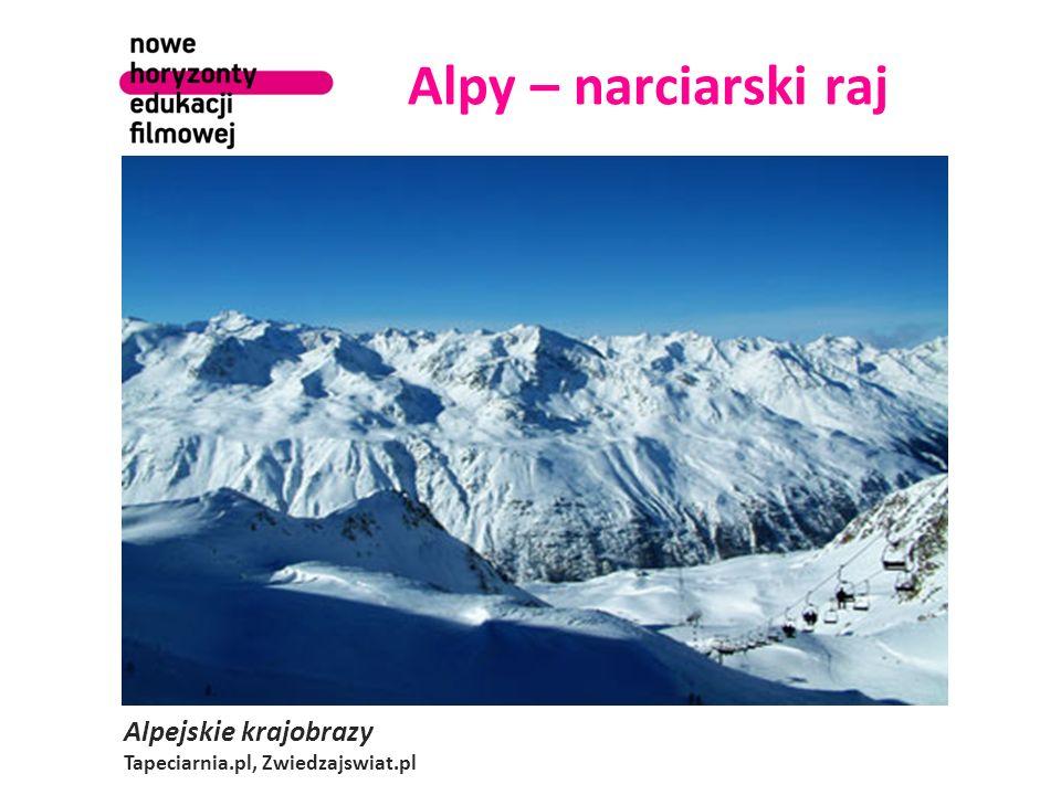 Alpy – narciarski raj Alpejskie krajobrazy Tapeciarnia.pl, Zwiedzajswiat.pl