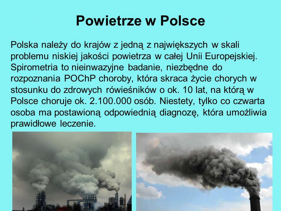 Polska należy do krajów z jedną z największych w skali problemu niskiej jakości powietrza w całej Unii Europejskiej. Spirometria to nieinwazyjne badan