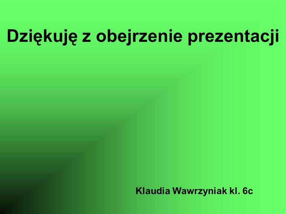 Dziękuję z obejrzenie prezentacji Klaudia Wawrzyniak kl. 6c