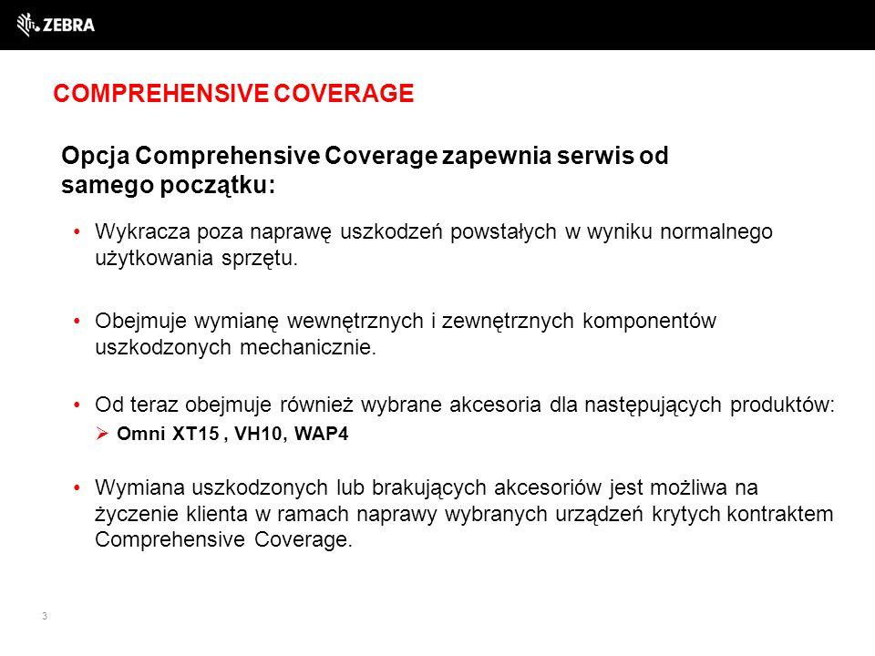 COMPREHENSIVE COVERAGE 3 Opcja Comprehensive Coverage zapewnia serwis od samego początku: Wykracza poza naprawę uszkodzeń powstałych w wyniku normalnego użytkowania sprzętu.