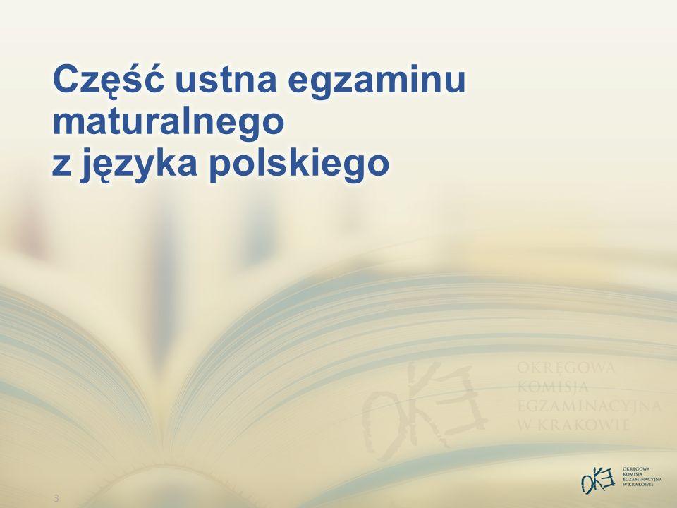 4 Organizacja egzaminu Numery zadań: