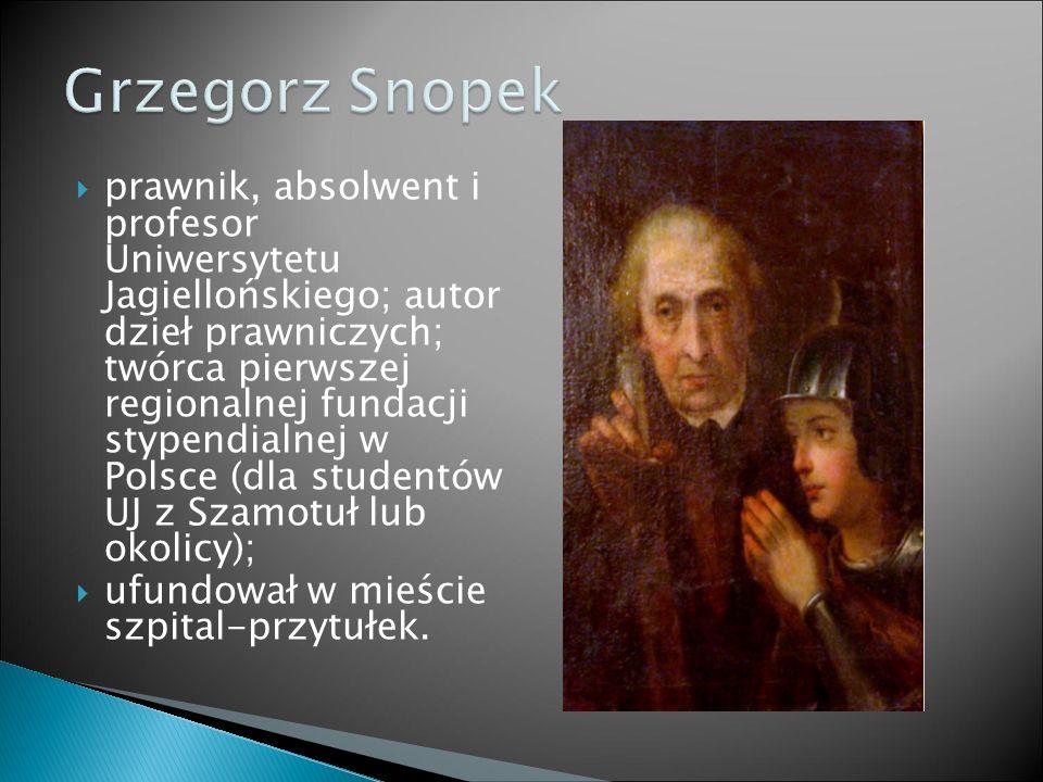  prawnik, absolwent i profesor Uniwersytetu Jagiellońskiego; autor dzieł prawniczych; twórca pierwszej regionalnej fundacji stypendialnej w Polsce (d