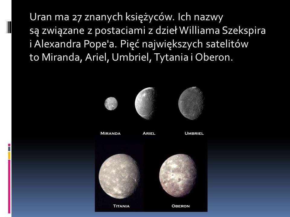 Uran ma 27 znanych księżyców.