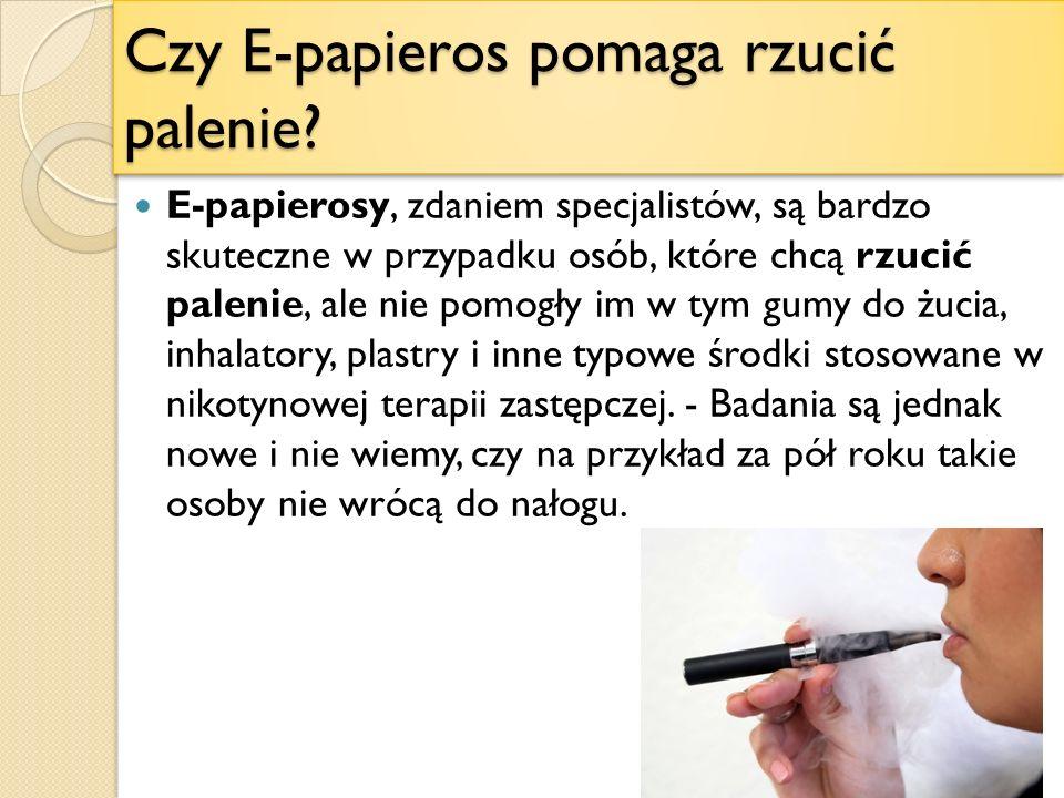Czy E-papieros pomaga rzucić palenie.