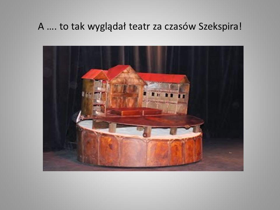 A …. to tak wyglądał teatr za czasów Szekspira!