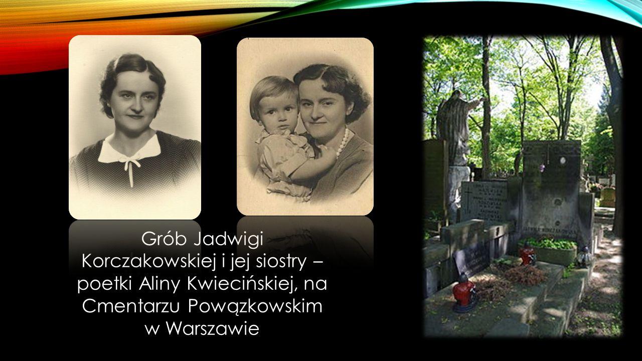 Grób Jadwigi Korczakowskiej i jej siostry – poetki Aliny Kwiecińskiej, na Cmentarzu Powązkowskim w Warszawie