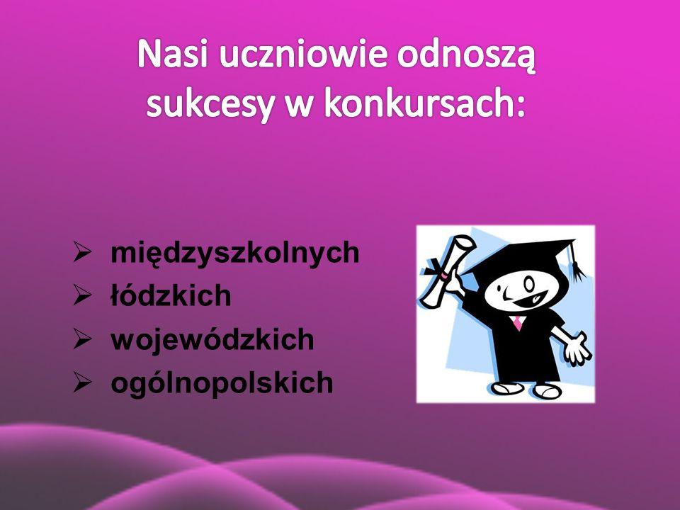  międzyszkolnych  łódzkich  wojewódzkich  ogólnopolskich