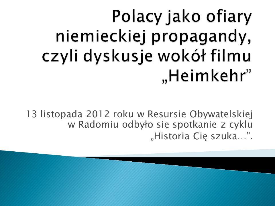 """13 listopada 2012 roku w Resursie Obywatelskiej w Radomiu odbyło się spotkanie z cyklu """"Historia Cię szuka… ."""
