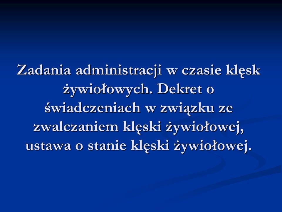 Zadania Rządowego Zespołu Zarządzania Kryzysowgo 1) przygotowywanie propozycji użycia sił i środków niezbędnych do opanowania sytuacji kryzysowych; 2) doradzanie w zakresie koordynacji działań organów administracji rządowej, instytucji państwowych i służb w sytuacjach kryzysowych; 3) opiniowanie sprawozdań końcowych z działań podejmowanych w związku z zarządzaniem kryzysowym; 4) opiniowanie potrzeb w zakresie odtwarzania infrastruktury lub przywrócenia jej pierwotnego charakteru; 5) opiniowanie i przedkładanie do zatwierdzenia Radzie Ministrów krajowego planu reagowania kryzysowego; 6) opiniowanie i przedkładanie do zatwierdzenia Radzie Ministrów krajowego i wojewódzkich planów ochrony infrastruktury krytycznej; 7) opiniowanie projektów zarządzeń Prezesa Rady Ministrów dotyczących wykazu przedsięwzięć NSPK; 8) opiniowanie projektów decyzji Rady Ministrów dotyczących wprowadzania przedsięwzięć z wykazu przedsięwzięć NSPK; 9) organizowanie współdziałania ze związkami ochotniczych straży pożarnych w sytuacjach kryzysowych.