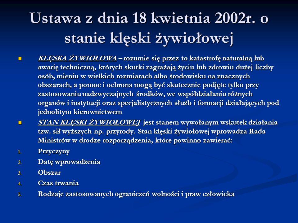 Ustawa z dnia 18 kwietnia 2002r.