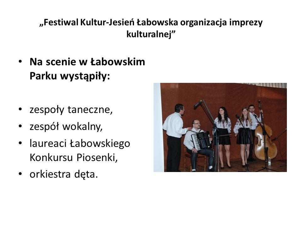 Na scenie w Łabowskim Parku wystąpiły: zespoły taneczne, zespół wokalny, laureaci Łabowskiego Konkursu Piosenki, orkiestra dęta.
