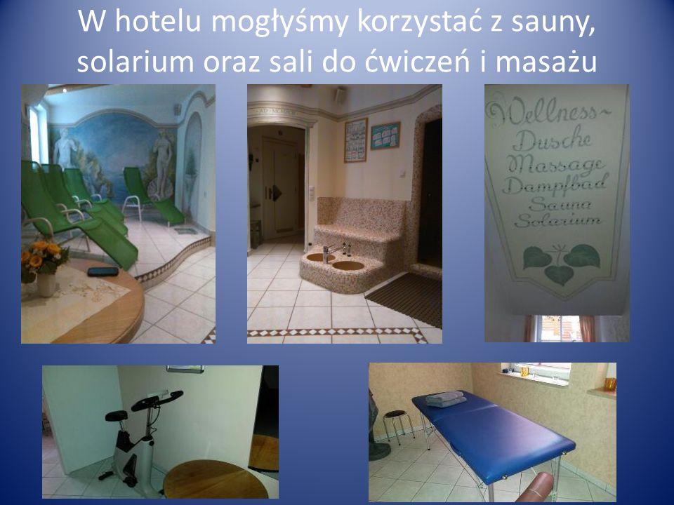 W hotelu mogłyśmy korzystać z sauny, solarium oraz sali do ćwiczeń i masażu