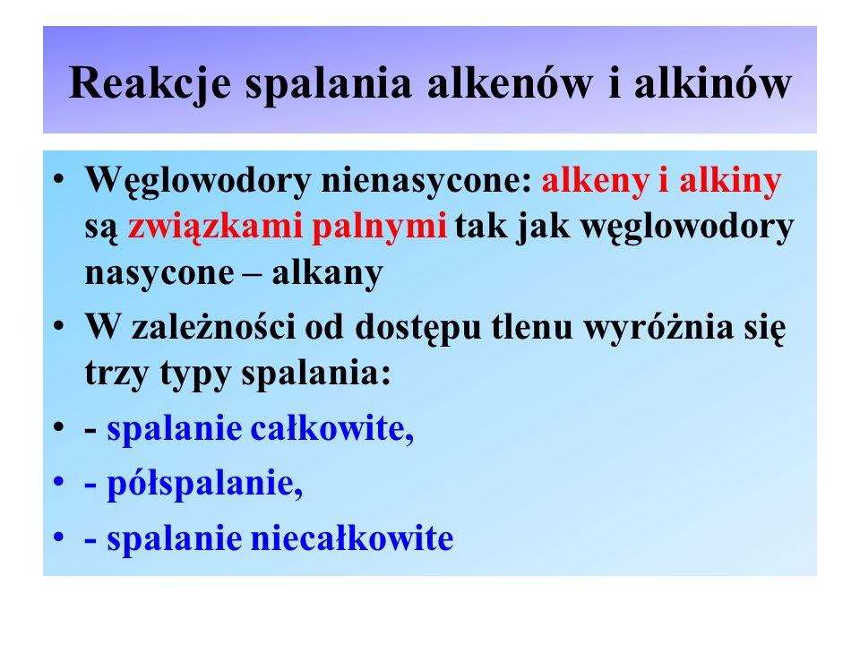 Reakcje charakterystyczne dla alkenów cd.