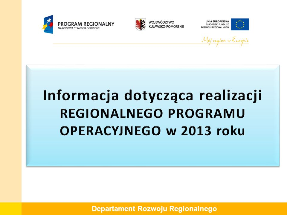 Departament Rozwoju Regionalnego