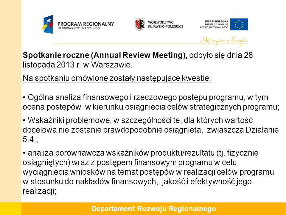 Spotkanie roczne (Annual Review Meeting), odbyło się dnia 28 listopada 2013 r.