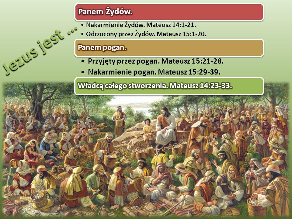 """""""Oni zaś mu powiedzieli: Mamy tutaj tylko pięć chlebów i dwie ryby […] I jedli wszyscy, i byli nasyceni; i zebrali z pozostałych odrobin dwanaście pełnych koszów (Mateusz 14:17.20) Po tym jak Janowi ścięto głowę, Jezus wraz ze swoimi uczniami udał się przez morze w odosobnione miejsce, aby im dodać odwagi."""