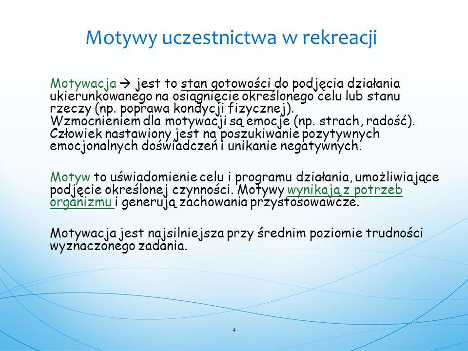 Motywacja  jest to stan gotowości do podjęcia działania ukierunkowanego na osiągnięcie określonego celu lub stanu rzeczy (np. poprawa kondycji fizycz