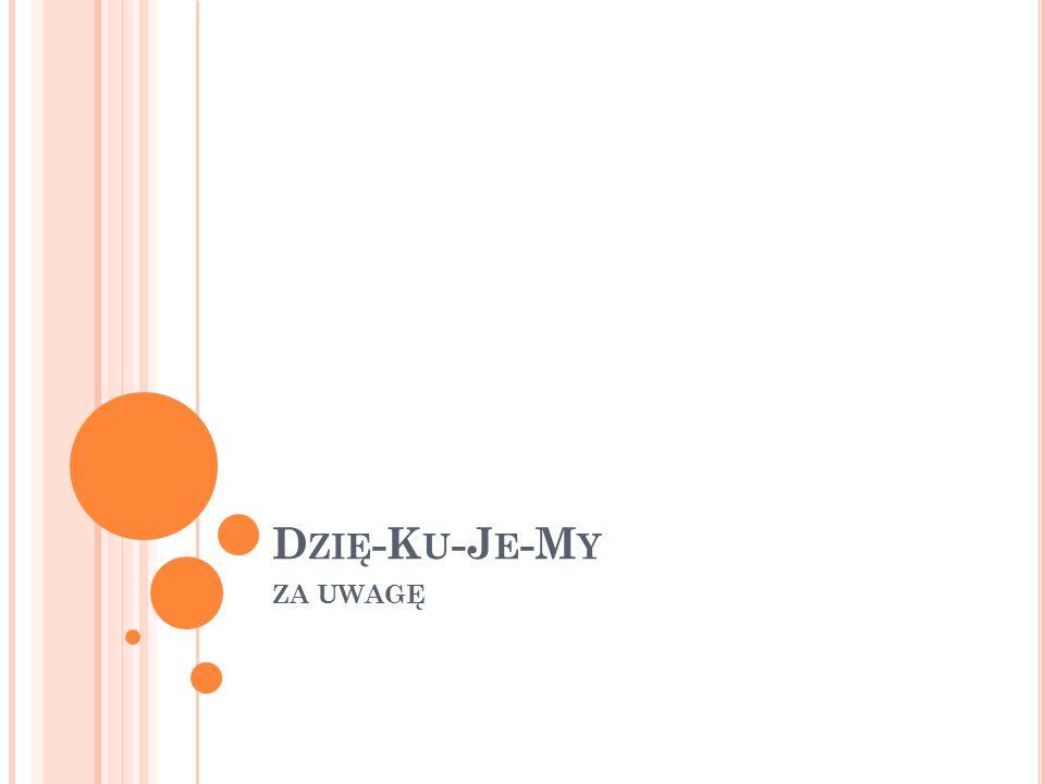 D ZIĘ -K U -J E -M Y ZA UWAGĘ