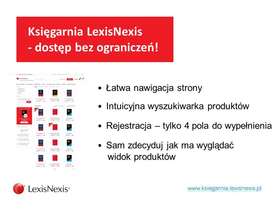 Księgarnia LexisNexis - dostęp bez ograniczeń.
