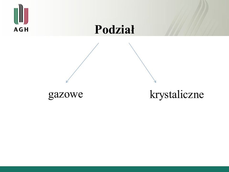 Podział gazowe krystaliczne