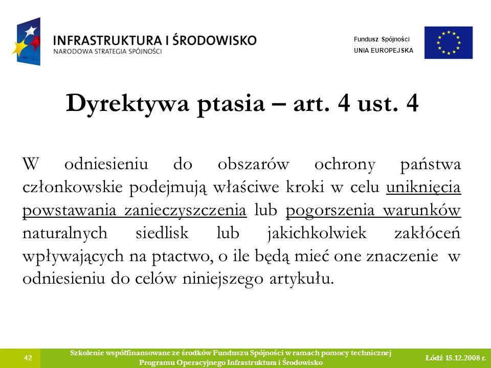 Dyrektywa ptasia – art.4 ust.