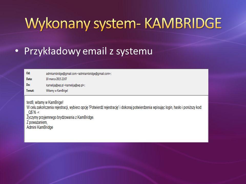 Przykładowy email z systemu