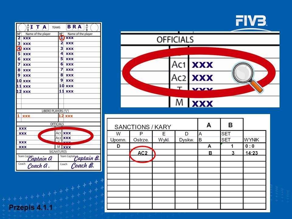 Doprecyzowania i uzupełnienia (wybrane) Przepis 23.3.2.3 Obowiązki sędziego pierwszego (…) c) błędach nad siatką oraz błędach kontaktu zawodnika z siatką, głównie po stronie ataku Przepis 24.3.2.3 Obowiązki sędziego drugiego (…) błędnym kontakcie zawodnika z siatką głównie po stronie bloku, lub z antenką po stronie sędziego drugiego Obowiązki sędziów !!!