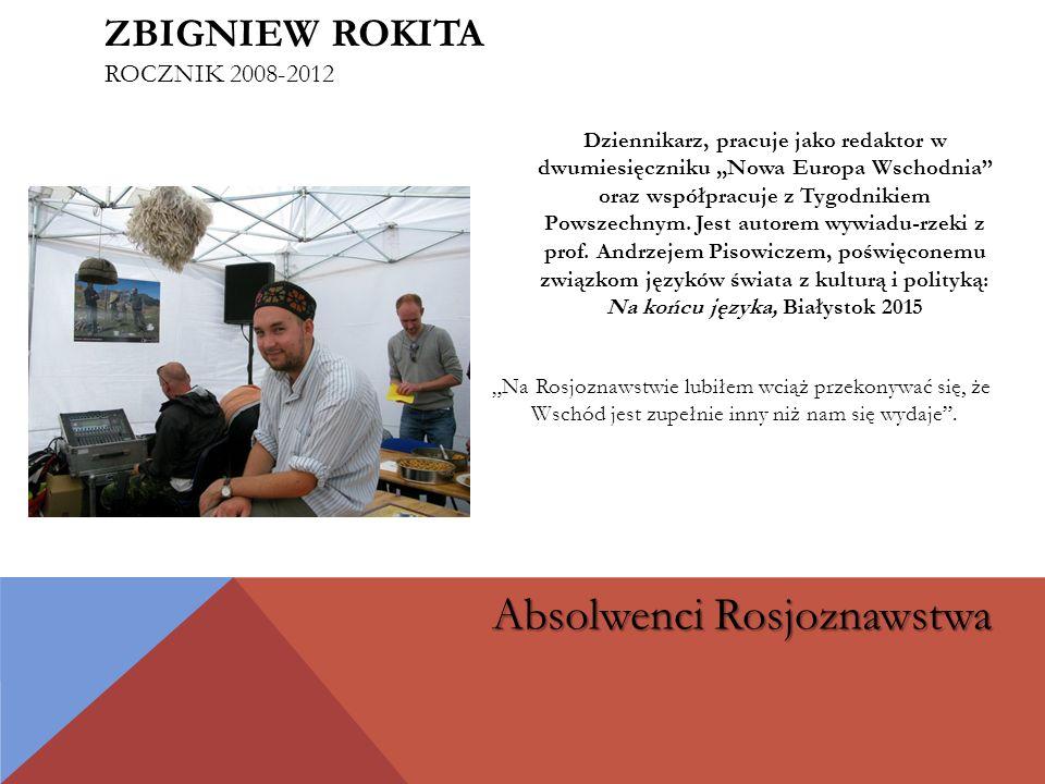 Adiunkt w Instytucie Rosji i Europy Wschodniej UJ; autor książki Aleksander Sołżenicyn.