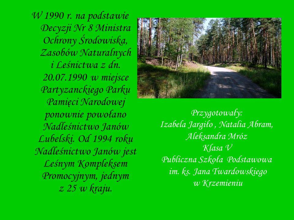W 1990 r. na podstawie Decyzji Nr 8 Ministra Ochrony Środowiska, Zasobów Naturalnych i Leśnictwa z dn. 20.07.1990 w miejsce Partyzanckiego Parku Pamię
